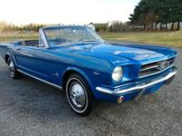 1965 FORD MUSTANG CONVERTIBLE. RUNS AND DRIVES GREAT,