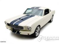 1965 Shelby GT350 Resto-Mod finished in Wimbledon white