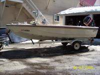 """1965 Glasspar 15'10"""" w/ trailer & Mercury Outboard"""