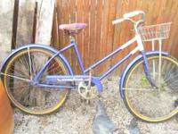 the tires are filled the bike is rideable its from 1965