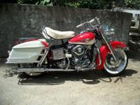 one year only 1965 panhead flh, extremely good initial