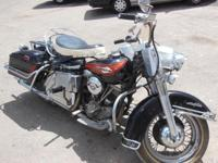 1965 Harley Panhead   Has disk brake in front, but