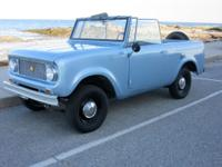 For sale is an amazing 1965 International Scout 80.  I