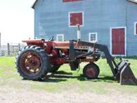 1965 IHC 656 Gas Tractor with Koyker Loader. Tractor