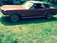 1965 Mustang convertible with 289 V-8 in great