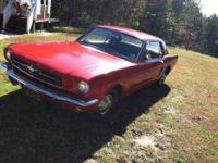 1965 Mustang Fastback 2+2 for. Runs and drives. 289 4