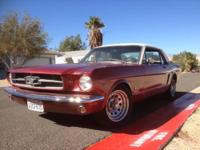 1965 Mustang Coupe from Southern California. The car is