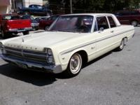 Up for sale is a 1965 Plymouth Fury II. Ivory in color.