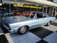 1965 GTO Convertible Original D Code Fontaine Blue with