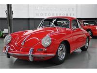 This 1965 Porsche 356 2dr C Coupe features a 4 cyl 4cyl