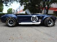 1965 Backdraft Racing Shelby Cobra Roadster In Indigo