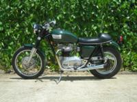 1965 Triumph 650 TR6SC mildly customized motorcycle in