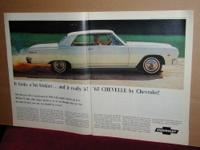 "I have for sale a vintage 1965 Chevrolet ""Chevelle"" car"
