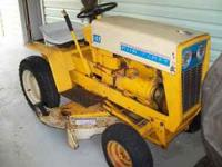 1965 Cub Cadet, 102 garden tractor with mower