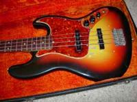 A fine example of a 1965 Fender Jazz Bass for playing
