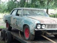 1967 chevelle front clip, 2 fenders and hood,hinges,