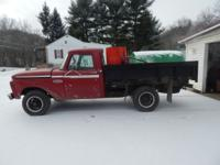 1966 ford f100; miles 76465, good running truck,4 wheel