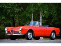This 1966 Alfa Romeo 2600 Spider Convertible . It is