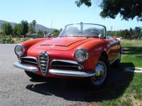 1966 Alfa Romeo Giulia Spider Normale. Red with black