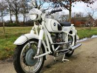 1966 BMW R50 White Beautiful Machine`BMW R50 in white,