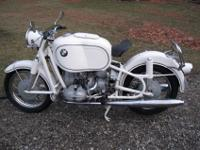 1966 BMW R69S with a large Hoske gas tank. I have seen