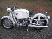 1966 BMW R69S with a huge Hoske gas tank. I have