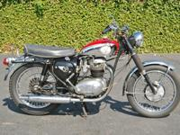 1966 BSA A65 Lightning, good runner in original