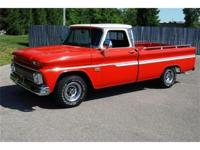 This 1966 Chevy C10 Custom Pick Up truck is finished in