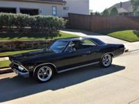 1966 Chevelle Super Sport True SS 138 car Black /