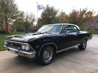 1966 CHEVY CHEVELLE SS 396 - 4 SPEED! BLACK, SOLID,