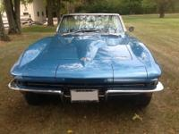 1966 CORVETTE NASSAU BLUE CONVERTABLE FROM THE FACTORY