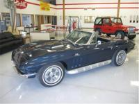 1966 Corvette Convertible, 427-450 HP, 4 spd. PS, PB