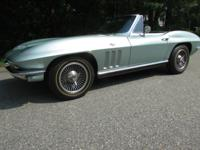 Up for sale is my 1966 Corvette Convertible. This