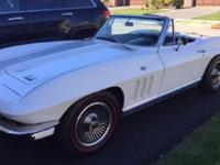1966 Corvette String Ray matching numbers  convertible
