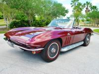 1966 Chevrolet Corvette Stingray Maroon Convertible