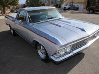 1966 Chevy El Camino, V8, two tone silver/blue gray