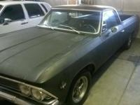 1966 CHEVY EL CAMINO- TRADE OR SELL Rust, dent, and