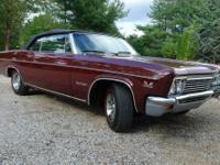 1966 chevy impala conv., 396/325hp,powerglide trans.