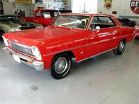 66 Chevy Nova II Red exterior with black vinyl