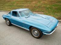1966 Corvette Coupe 427425hp blue  Transmission,