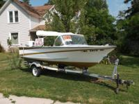 1966 Dura Craft 15 Ft. Boat with Tilt Trailer, 50hp