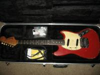 Up for sale here is a 1966 Fender Mustang Dakota Red