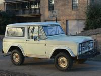 BARNFOUND ORIGINAL 1966 FORD BRONCO 4X4 W/REMOVABLE