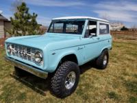 1966 Ford Bronco.   Just finished restoring, the body