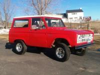 1966 Ford Roadster Bronco with clear Colorado Title, (