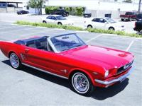 1966 FORD MUSTANG 'C' CODE 289 CONVERTIBLE, AUTO TRANS