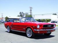 1966 FORD MUSTANG CONVERTIBLE, 289 AUTO, P/S, POWER
