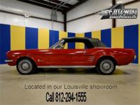 1966 Ford Mustang Convertible in Candyapple Red paint