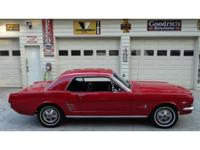 1966 Ford Mustang Coupe, Candy apple red, This is a C