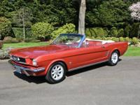 1966 Ford Mustang Convertible. #6F08T307327. This is an